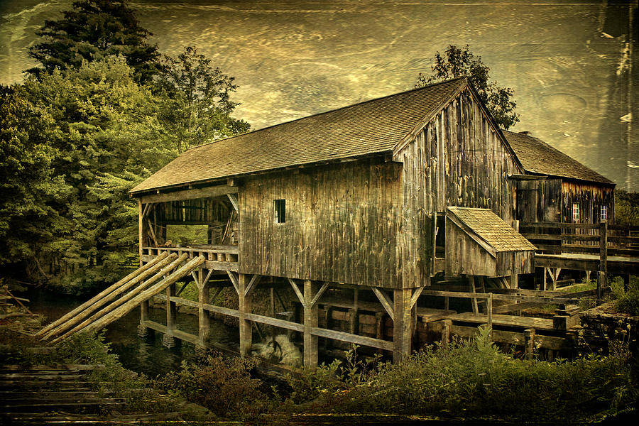 Mill Photograph - Forgotten Yesterdays by Evelina Kremsdorf