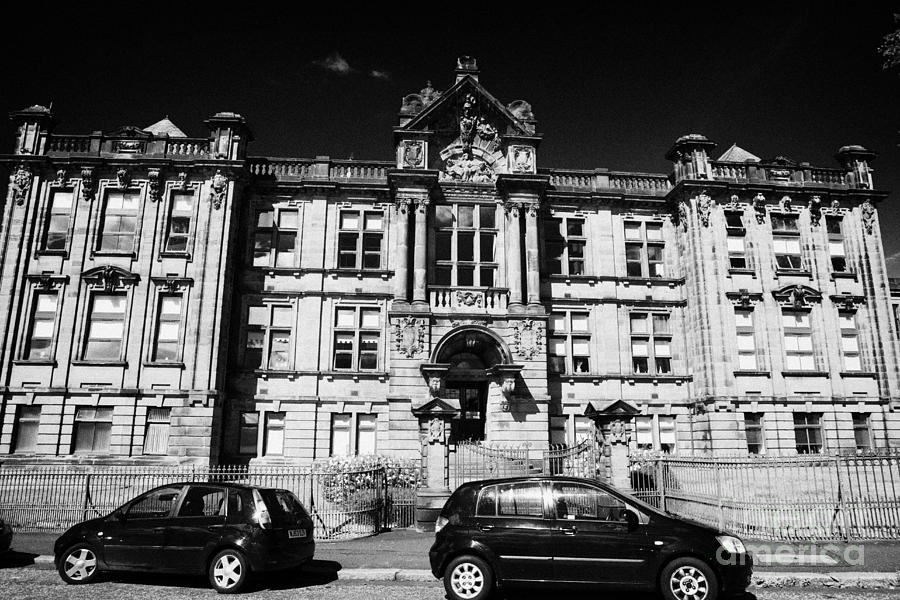 Former Photograph - Former Kilmarnock Technical School And Academy Building Now Academy Apartments Scotland Uk by Joe Fox
