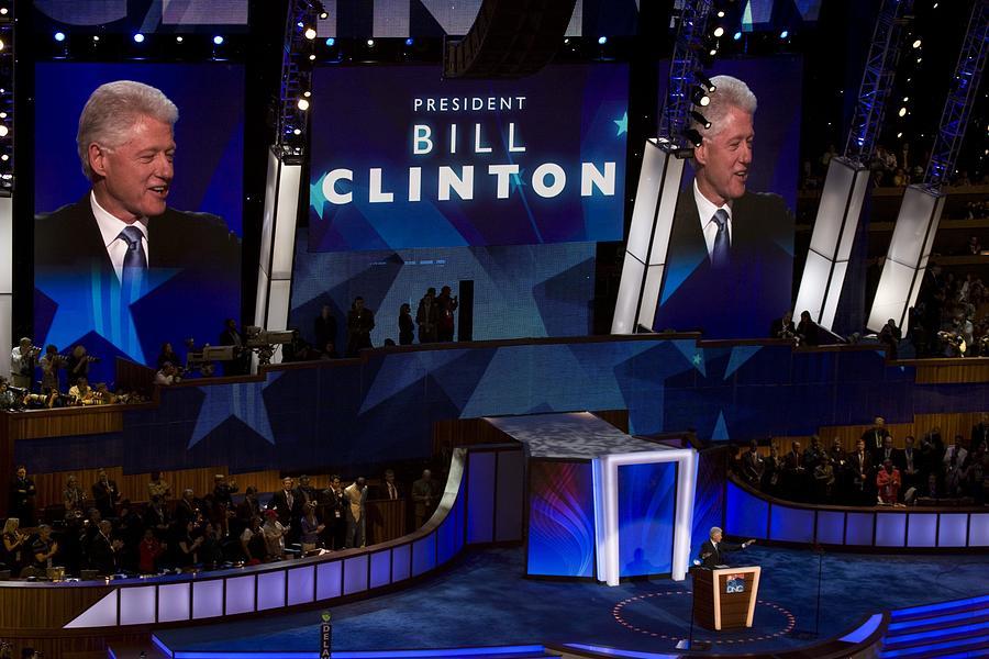 History Photograph - Former President Bill Clinton Addresses by Everett