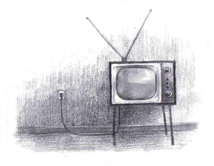 tv drawing. tv drawing former by di fernandes