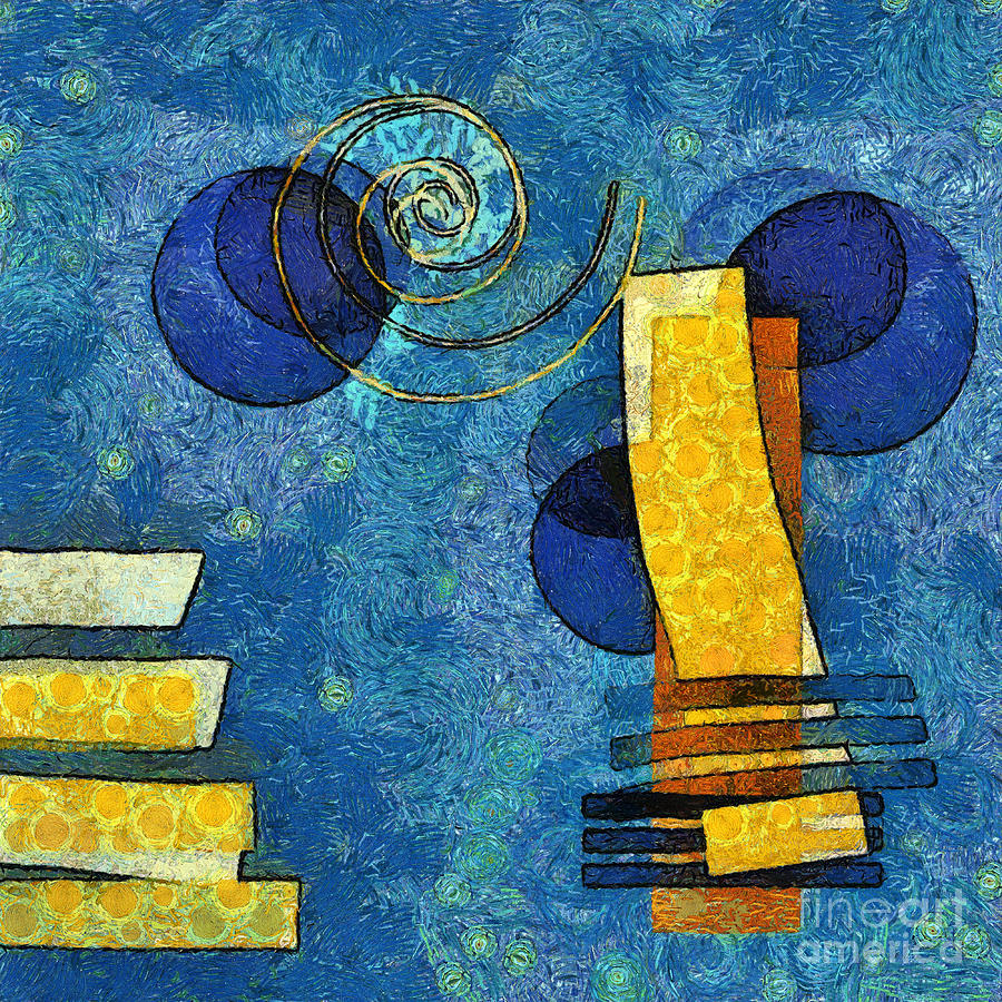 Forms Digital Art - Formes - 09g by Variance Collections