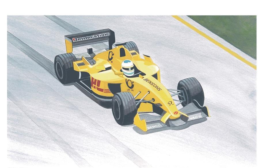 Formula 1 Race Car Painting - Formula 1 Honda by Steven Donnini