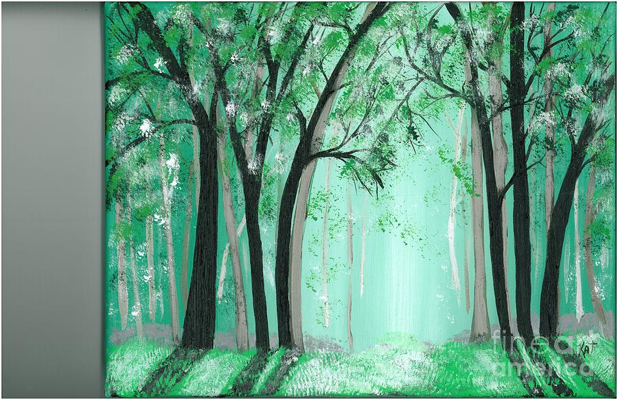 Forrest Painting - Forrest by Kat Beights