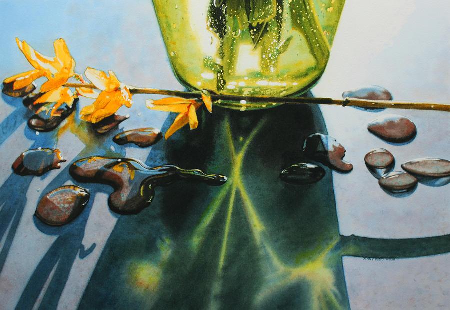 Botanical Painting - Forsythia by Denny Bond