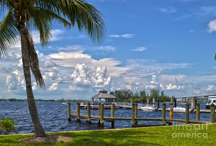 Fort Myers Photograph - Fort Myers Dock by Timothy Lowry