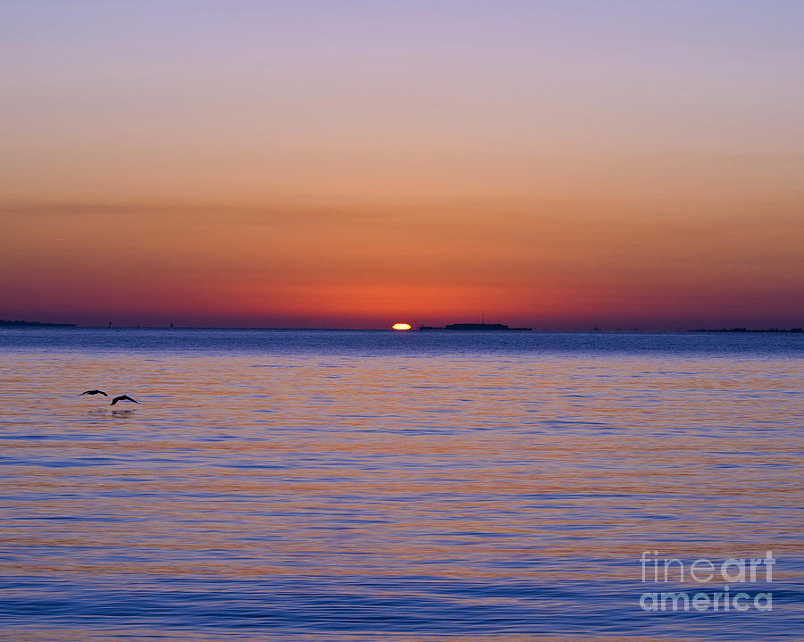 Fort Sumter Photograph - Fort Sumter Sunrise by Al Powell Photography USA