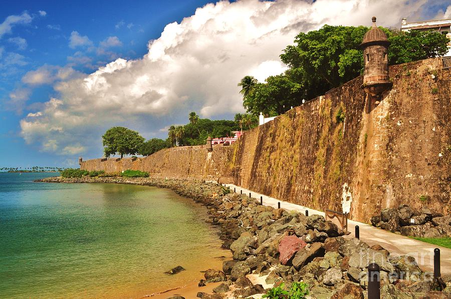 Old San Juan Wall Decor : Fort wall old san juan puerto rico photograph by george sylvia