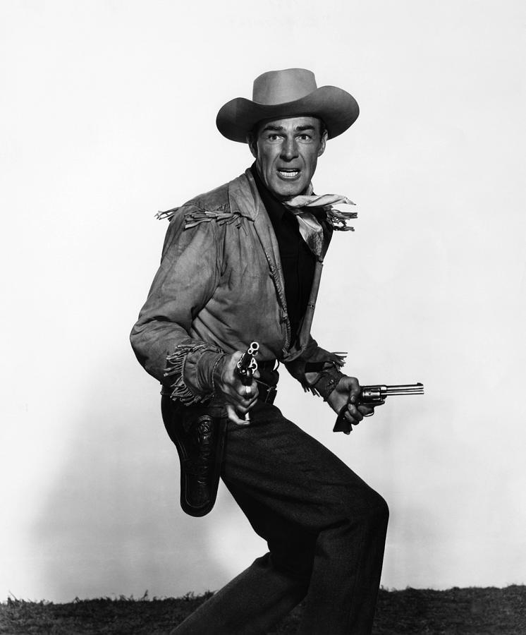 1951 Movies Photograph - Fort Worth, Randolph Scott, 1951 by Everett