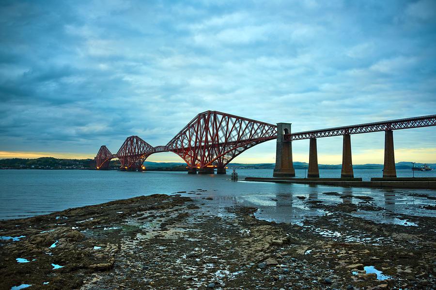 Forth Rail Bridge Photograph - Forth Rail Bridge by Svetlana Sewell