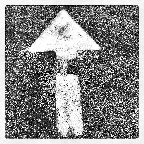 Arrow Photograph - Forward Direction by Gwyn Newcombe