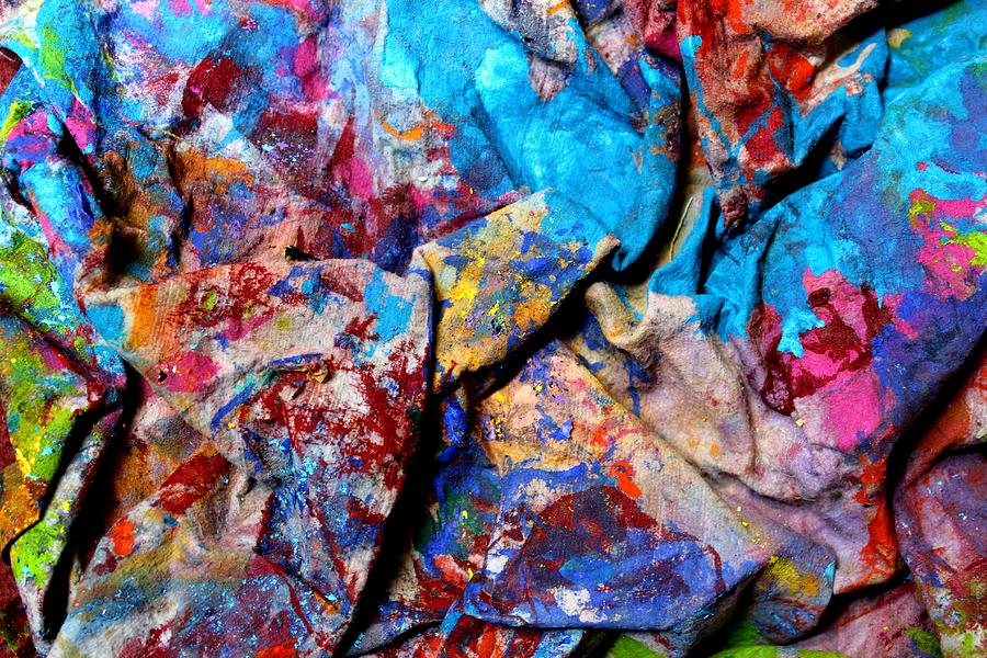 Abstract Mixed Media - Found Art Studio Rag by John  Nolan
