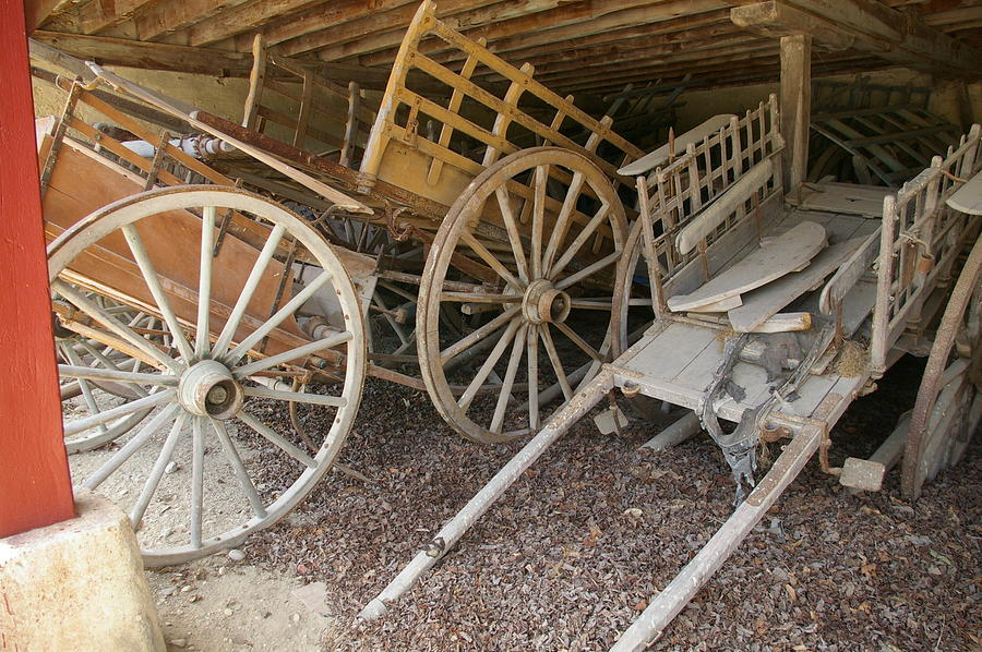 Wagon Photograph - Found In A French Barn by Christine Burdine