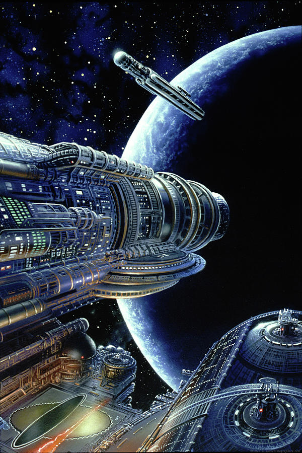 Space Painting - Foundation Trilogy by Don Dixon