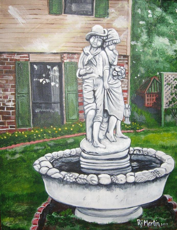 Fountain in the Garden by Roberta Martin