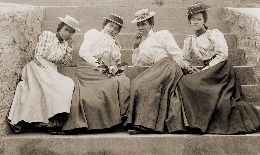 History Photograph - Four African American Women Students by Everett