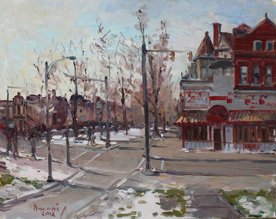 Elmwood Ave Painting - Four Corners At Bidwell Parkway by Ylli Haruni