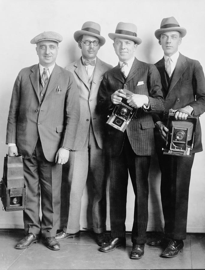 Historical Photograph - Four Members Of The White House News by Everett