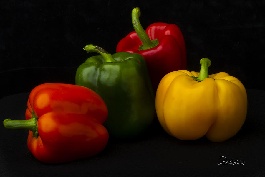 Color Photograph - Four Peppers by Frederic A Reinecke
