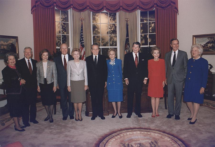 History Photograph - Four Presidents And Five First Ladies by Everett