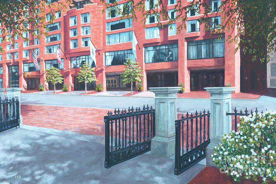 Four Seasons Hotel Painting - Four Seasons Hotel by Laura DeDonato