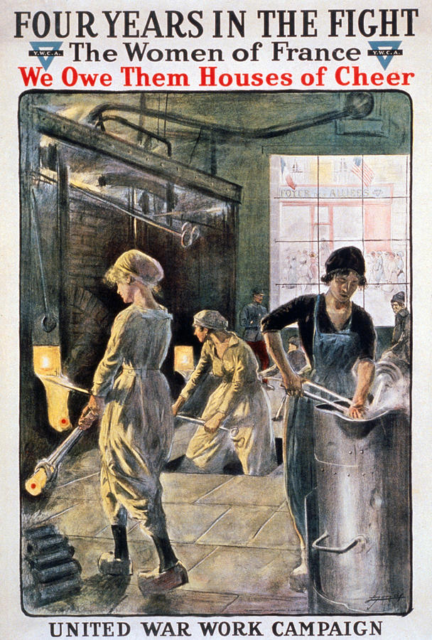 1910s Photograph - Four Years In The Fight. Women Working by Everett
