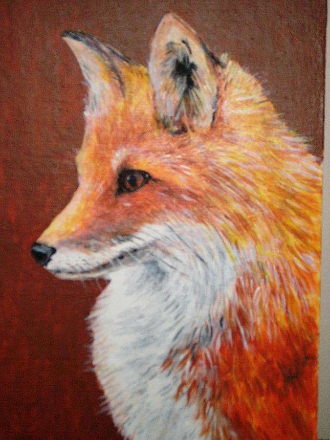 Fox 2 Painting by Voica Radu