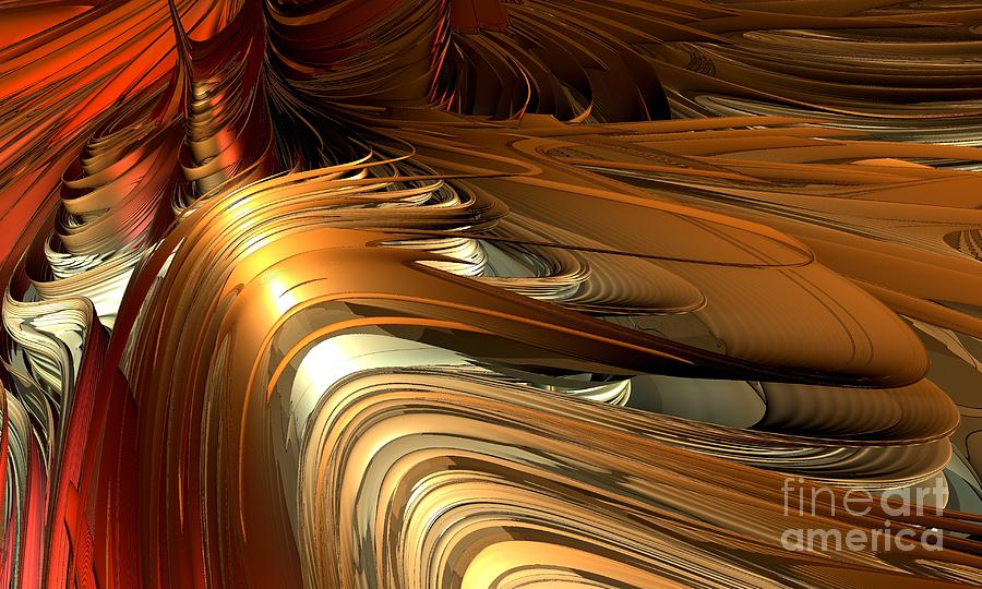 Digital Digital Art - Fractal - Golden Twist by Bernard MICHEL