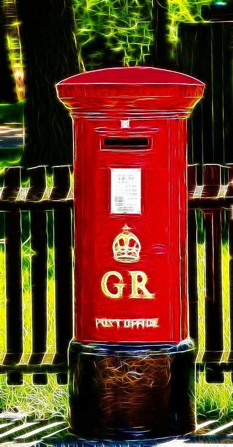 Pillar Box Photograph - Fractalius Pillar Box by Chris Thaxter