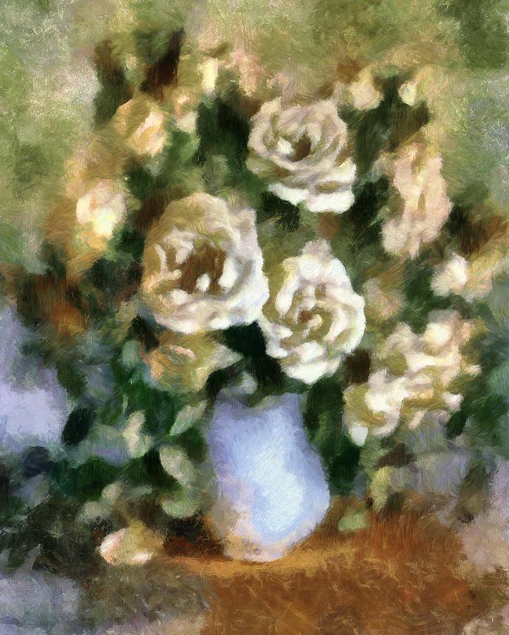 Roses Mixed Media - Fragrant Roses by Georgiana Romanovna