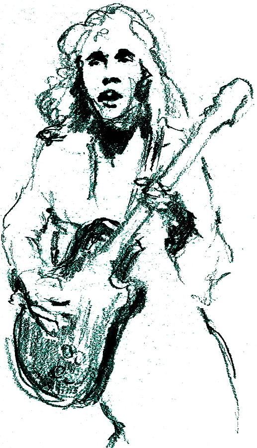 Peter Frampton Drawing - Frampton by David Ritsema