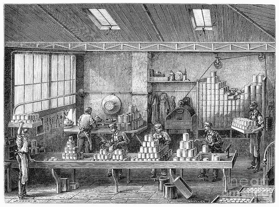 1880 Photograph - France: Cannery, C1880 by Granger