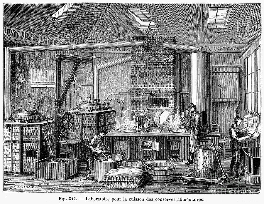 1876 Photograph - France: Food Laboratory by Granger