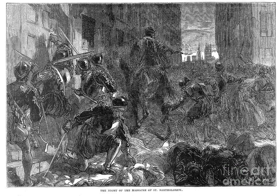 1572 Photograph - France: Massacre, 1572 by Granger