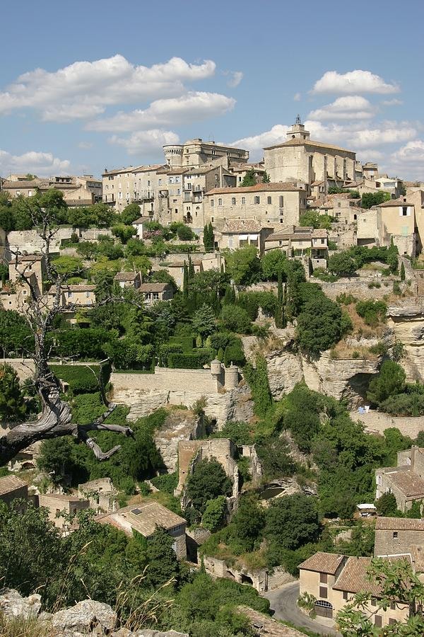 Vertical Photograph - France, Provence, Village Of Gordes by Jimmy Legrand