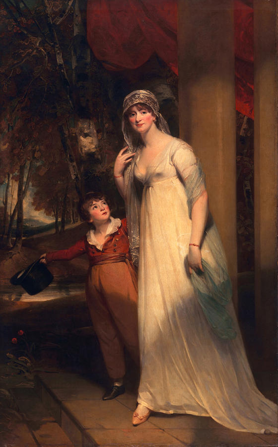 Male Painting - Frances Borlase Later Frances Grenfell And Pascoe George Norman Grenfel by Sir Martin Archer Shee