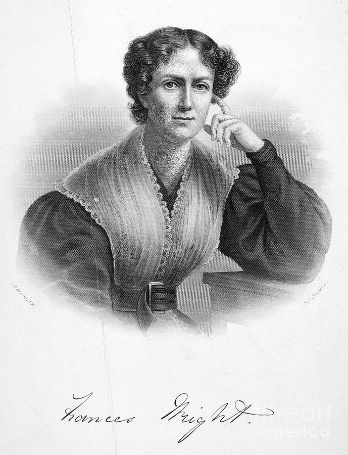 19th Century Photograph - Frances Wright (1795-1852) by Granger