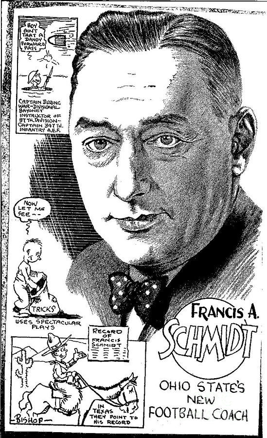 Ohio State Football Coaches Drawing - Francis A. Schmidt by Steve Bishop