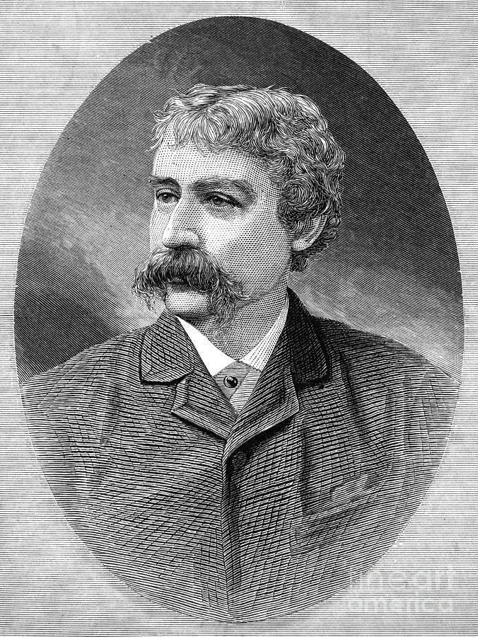 1885 Photograph - Francis Brett Harte by Granger