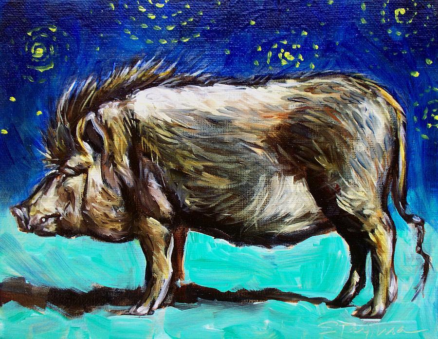 Pig Painting - Frank by Sheila Tajima