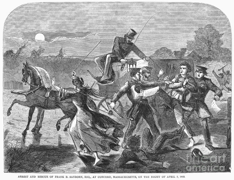 1860 Photograph - Franklin Benjamin Sanborn by Granger