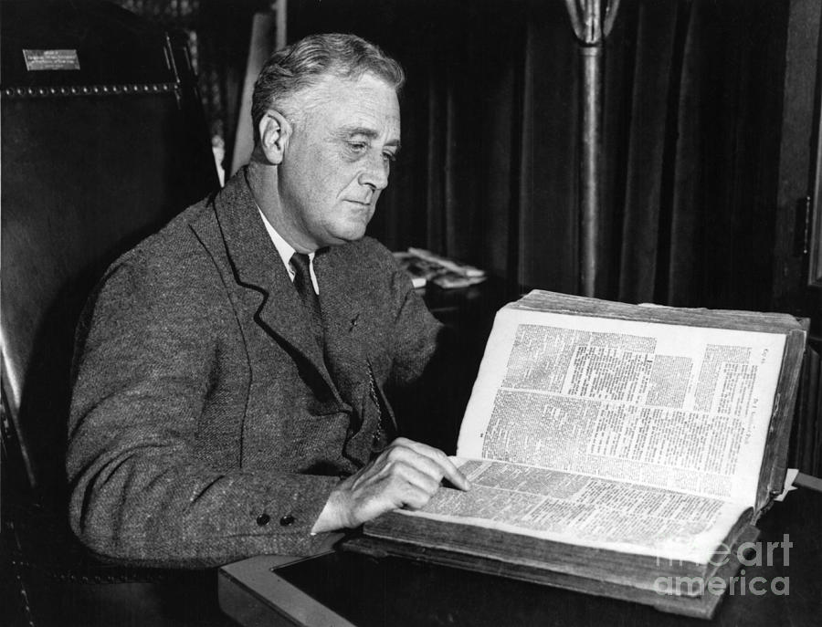 History Photograph - Franklin D. Roosevelt, 32nd American by Photo Researchers