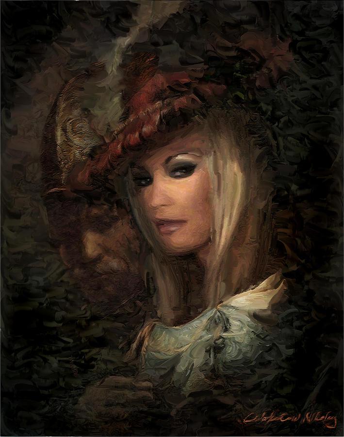 Abstract Mixed Media - Frau Laura by Nikolay Vakatov