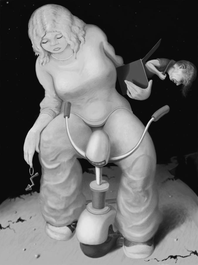 Louis Digital Art - Freda by Louis Gleason