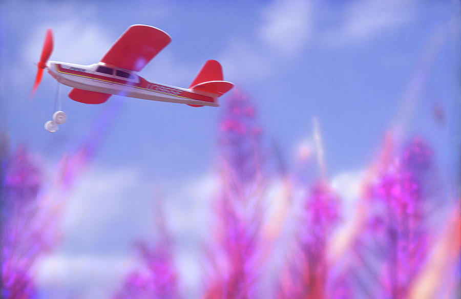 Child Photograph - Free Flight by Richard Piper