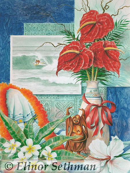 Tropical Painting - Free Spirit by Elinor Sethman