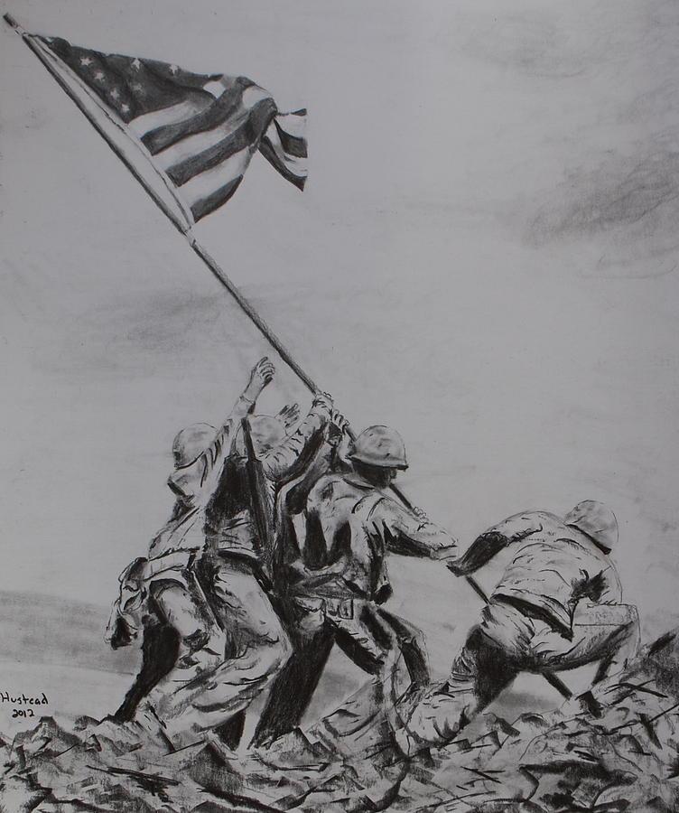 War Drawing - Freedom by Brian Hustead
