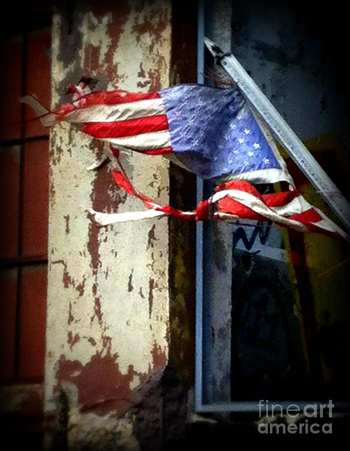 Flag Photograph - Freedom by Leslie Hunziker
