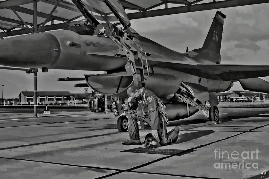 F16 Digital Art - Freedoms Tebowing by Tommy Anderson