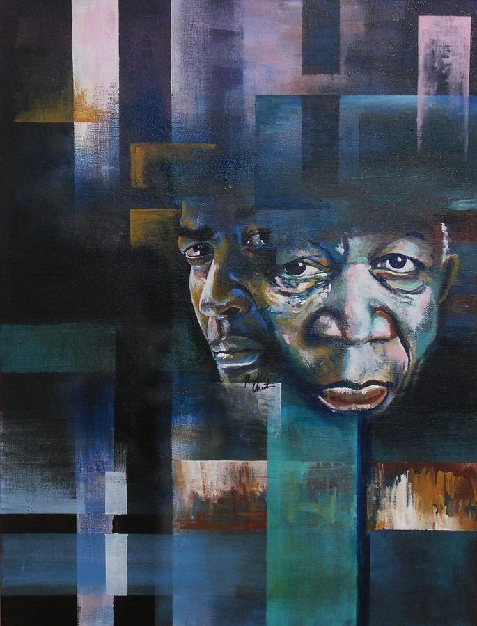 Denzel Washington Painting - Freemanwashington Abstract by Reuben Cheatem