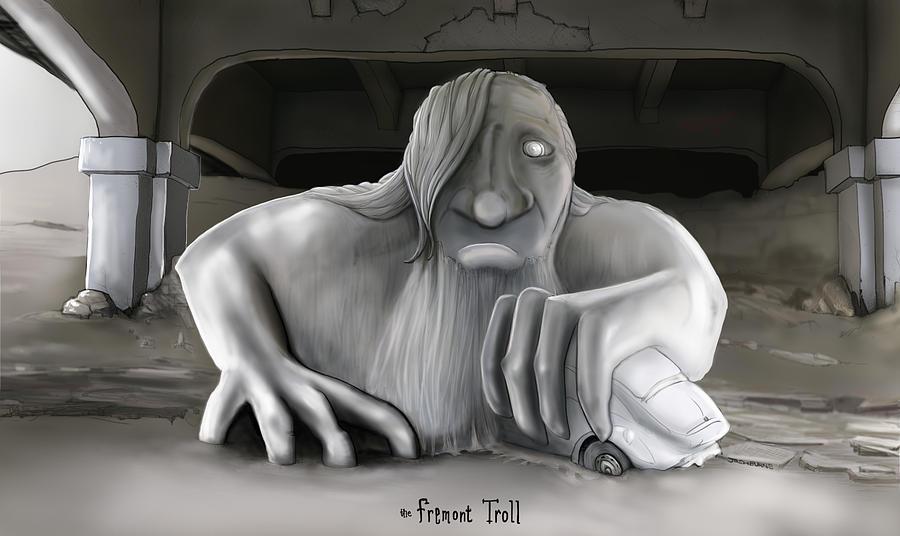 Freemont Troll Digital Art - Freemont Troll by Josh Burns